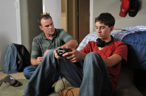 Adam Mitchell (Alex Kendrick) tries to connect with son Dylan (Rusty Martin, Jr.)